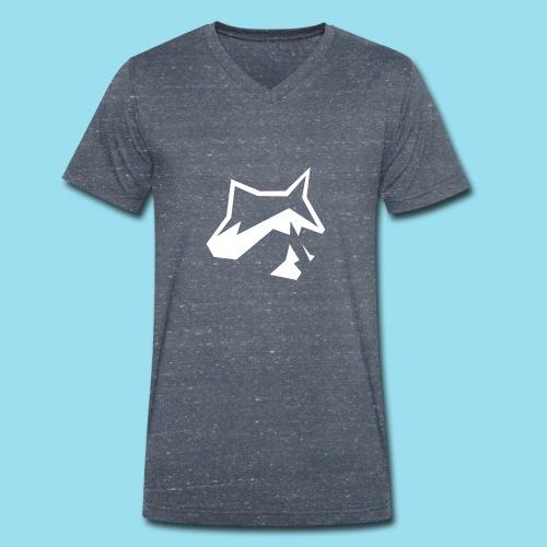 Raccoon Minimal - Männer Bio-T-Shirt mit V-Ausschnitt von Stanley & Stella