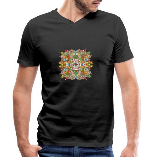 La foule de Noël s'amuse follement et à fond - Men's Organic V-Neck T-Shirt by Stanley & Stella