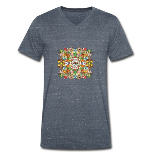 The Christmas crowd is having a great time - Men's Organic V-Neck T-Shirt by Stanley & Stella
