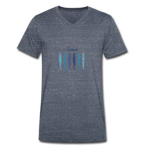 Sardine - T-shirt ecologica da uomo con scollo a V di Stanley & Stella