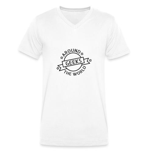 Geeks around the world - T-shirt bio col V Stanley & Stella Homme