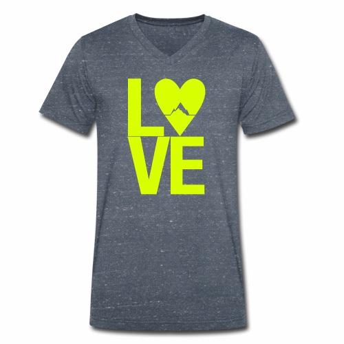 Mountain Love - Männer Bio-T-Shirt mit V-Ausschnitt von Stanley & Stella