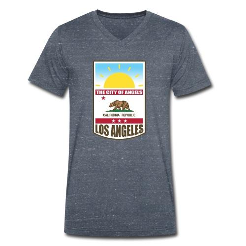 Los Angeles - California Republic - Men's Organic V-Neck T-Shirt by Stanley & Stella