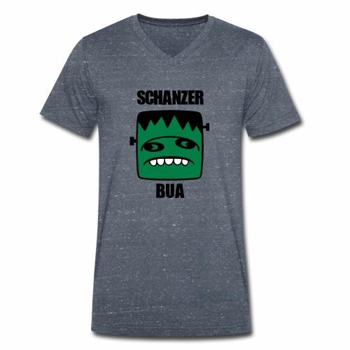 Fonster Schanzer Bua - Männer Bio-T-Shirt mit V-Ausschnitt von Stanley & Stella