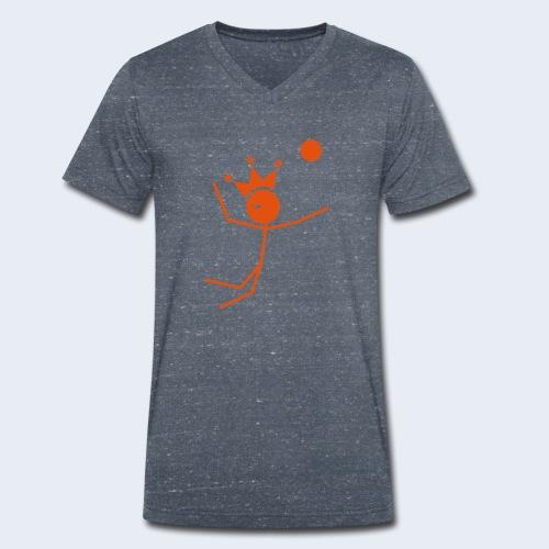 Volleybalkoning - Mannen bio T-shirt met V-hals van Stanley & Stella