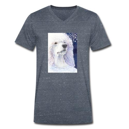 Poodle DreamDog - Økologisk Stanley & Stella T-shirt med V-udskæring til herrer