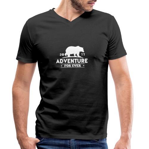 ADVENTURE FOR EVER - GRIZZLY - T-shirt ecologica da uomo con scollo a V di Stanley & Stella