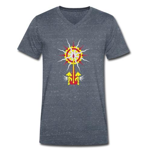 Belenos Sonnen-Ornament - Männer Bio-T-Shirt mit V-Ausschnitt von Stanley & Stella