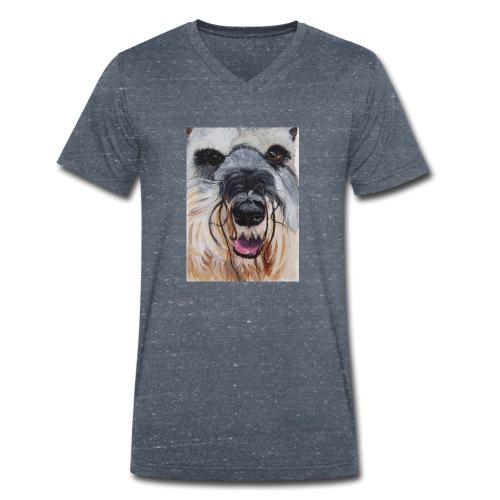 schnauzer - Økologisk Stanley & Stella T-shirt med V-udskæring til herrer