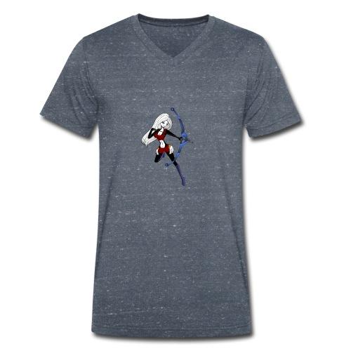 Moon - Männer Bio-T-Shirt mit V-Ausschnitt von Stanley & Stella