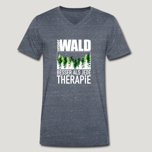 Unser Wald - besser als jede Therapie - Männer Bio-T-Shirt mit V-Ausschnitt von Stanley & Stella