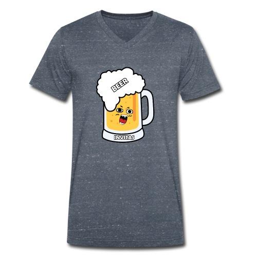 BEER INVITAS - Camiseta ecológica hombre con cuello de pico de Stanley & Stella