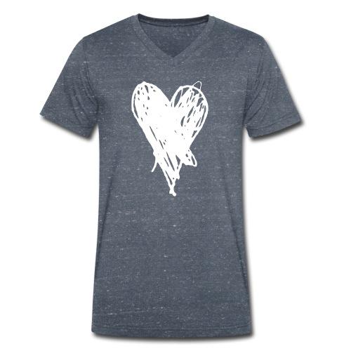 Cœur et amour pour dire je t'aime, i love you - T-shirt bio col V Stanley & Stella Homme