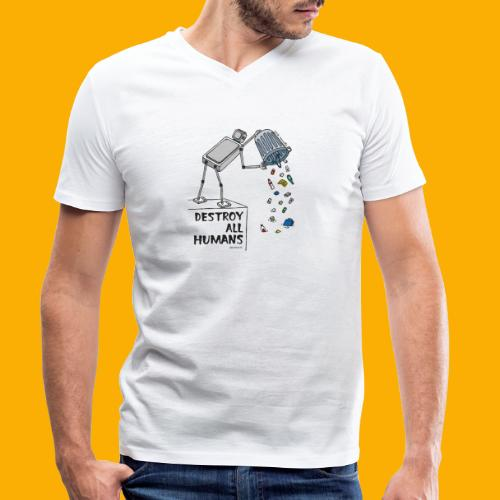 Dat Robot: Destruction By Pollution light - Mannen bio T-shirt met V-hals van Stanley & Stella