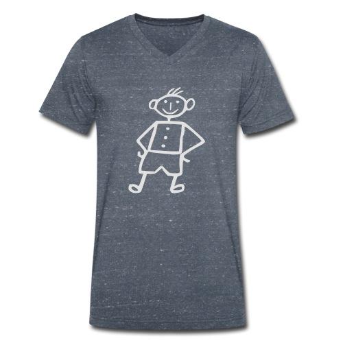 me-white - Männer Bio-T-Shirt mit V-Ausschnitt von Stanley & Stella