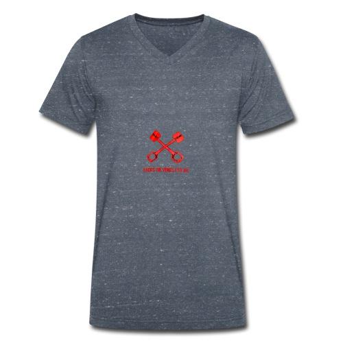 Bäcks bilverkstad - Ekologisk T-shirt med V-ringning herr från Stanley & Stella