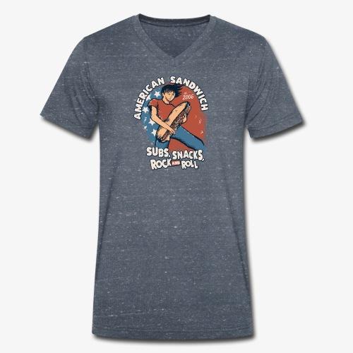 American Sandwich Rocker auf Farbe - Männer Bio-T-Shirt mit V-Ausschnitt von Stanley & Stella