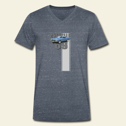 69 chevelle stripe - Økologisk Stanley & Stella T-shirt med V-udskæring til herrer