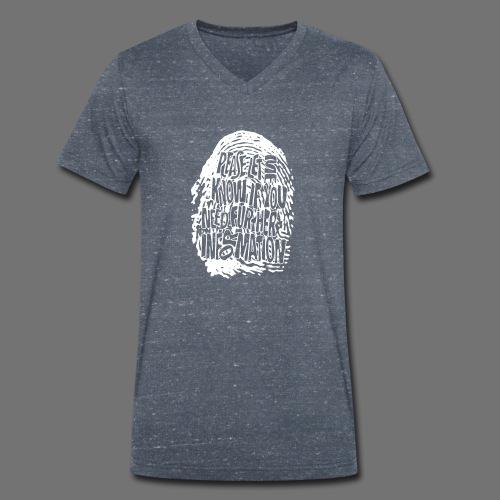 Fingerprint DNA (white) - Men's Organic V-Neck T-Shirt by Stanley & Stella