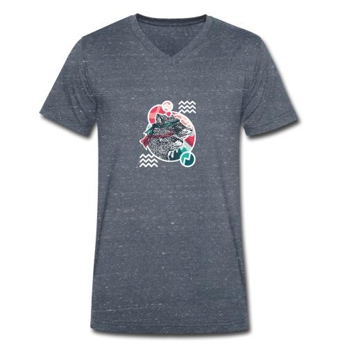 Wischwaschbär & AimbOTTER - Männer Bio-T-Shirt mit V-Ausschnitt von Stanley & Stella