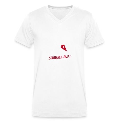 Schnabel auf gegen Hetzer und Rassisten - Männer Bio-T-Shirt mit V-Ausschnitt von Stanley & Stella