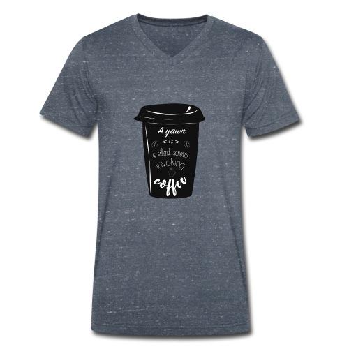 Coffee - T-shirt ecologica da uomo con scollo a V di Stanley & Stella