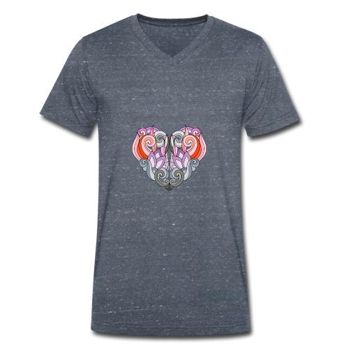 CUORE MANDALA - T-shirt ecologica da uomo con scollo a V di Stanley & Stella