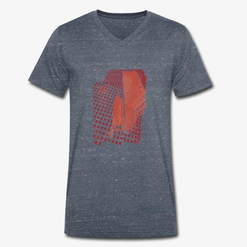 Digital Landscape - T-shirt ecologica da uomo con scollo a V di Stanley & Stella