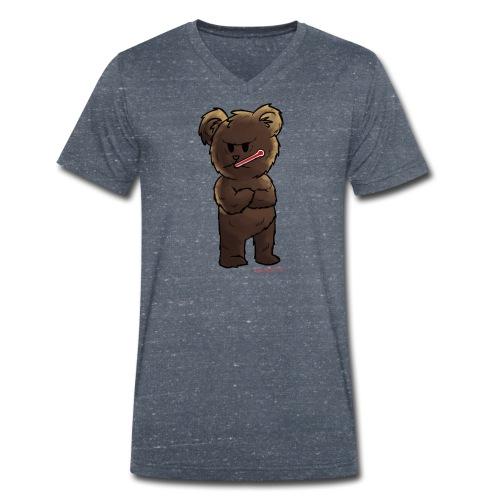 Fieber-Bär - Männer Bio-T-Shirt mit V-Ausschnitt von Stanley & Stella