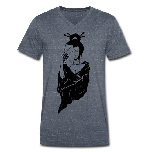 Geisha - Männer Bio-T-Shirt mit V-Ausschnitt von Stanley & Stella