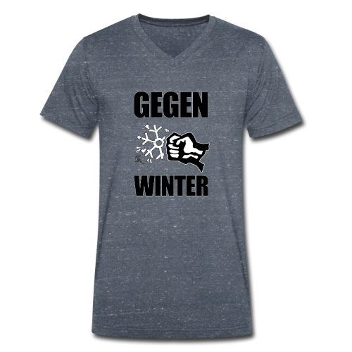 Gegen Winter - Männer Bio-T-Shirt mit V-Ausschnitt von Stanley & Stella