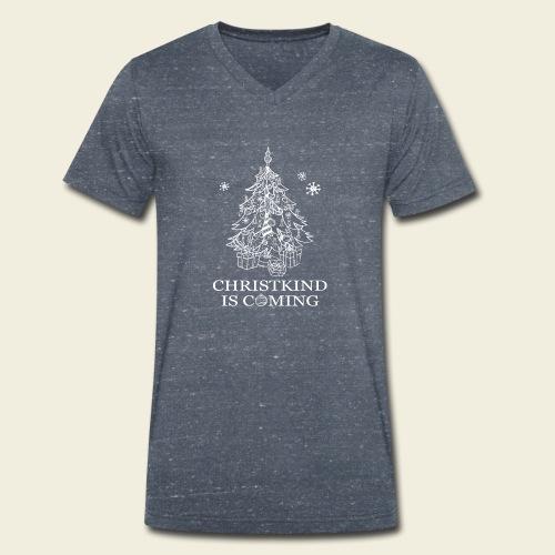 Christkind neu weiss - Männer Bio-T-Shirt mit V-Ausschnitt von Stanley & Stella