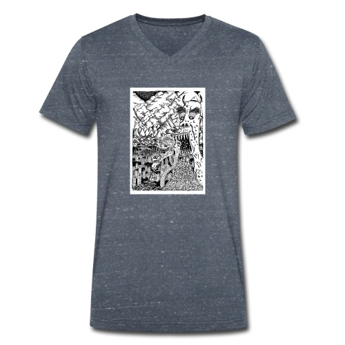 Sea Monsters T-Shirt by Backhouse - Men's Organic V-Neck T-Shirt by Stanley & Stella