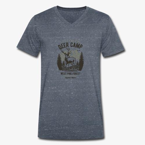 Camp de cerfs - T-shirt bio col V Stanley & Stella Homme