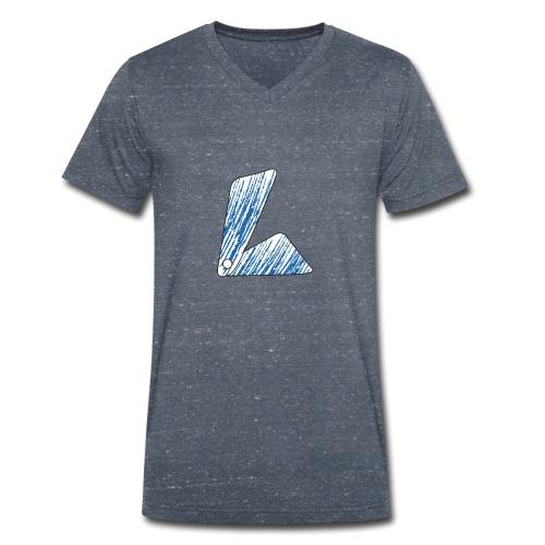 lettera L blu - T-shirt ecologica da uomo con scollo a V di Stanley & Stella