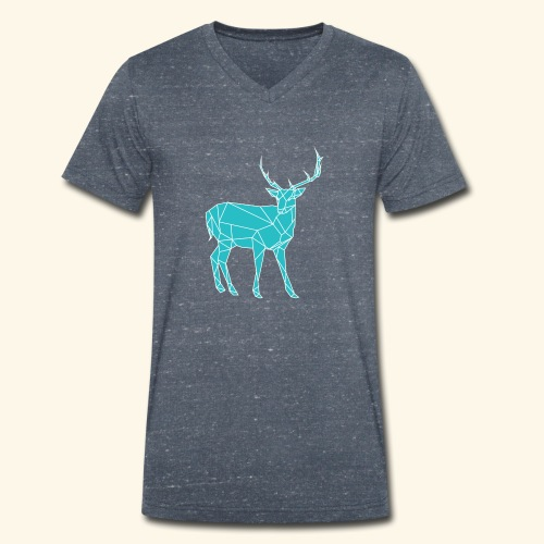 Blue Reindeer - Men's Organic V-Neck T-Shirt by Stanley & Stella