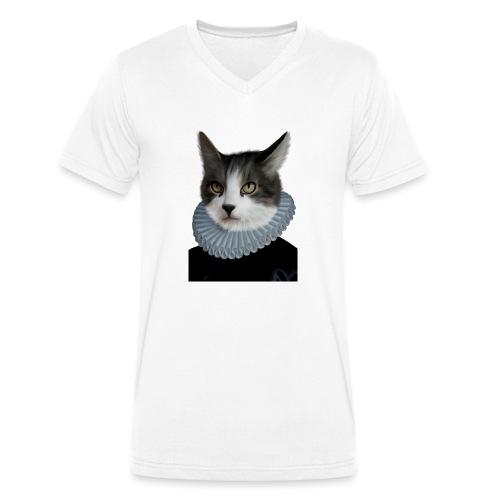 Noble Cat - Männer Bio-T-Shirt mit V-Ausschnitt von Stanley & Stella
