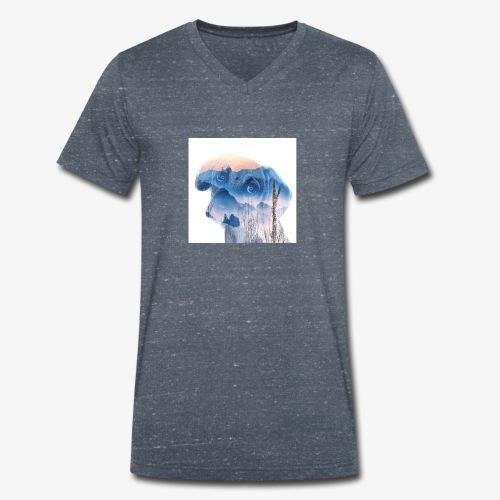 Süsser Hund - Männer Bio-T-Shirt mit V-Ausschnitt von Stanley & Stella