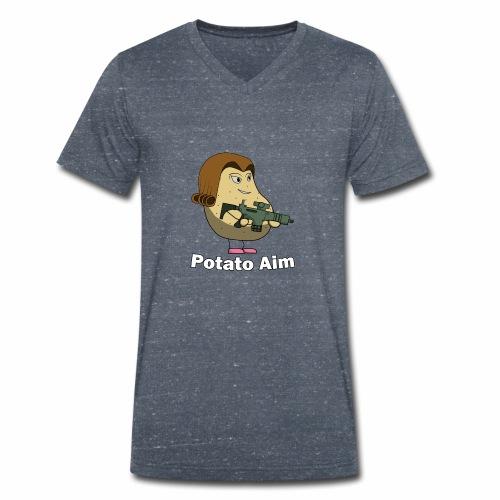 Mrs Potato Aim - Men's Organic V-Neck T-Shirt by Stanley & Stella