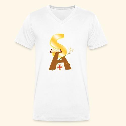 Saint Antony - T-shirt ecologica da uomo con scollo a V di Stanley & Stella