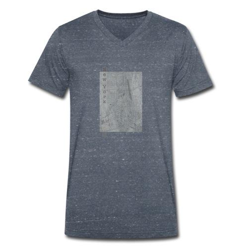 New York - Ekologiczna koszulka męska z dekoltem w serek Stanley & Stella