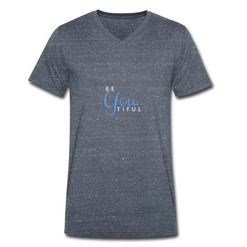 BeYouTiful eisblau-hellblau - Männer Bio-T-Shirt mit V-Ausschnitt von Stanley & Stella