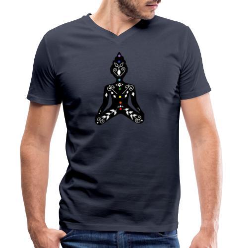 Meditation - Men's Organic V-Neck T-Shirt by Stanley & Stella