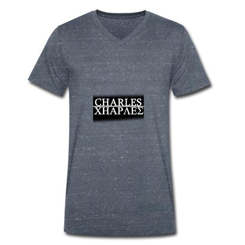 CHARLES CHARLES BLACK AND WHITE - Men's Organic V-Neck T-Shirt by Stanley & Stella