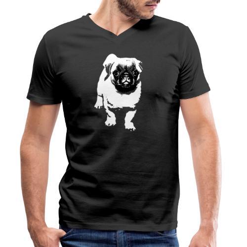 Mops Hund Hunde Möpse Geschenk - Männer Bio-T-Shirt mit V-Ausschnitt von Stanley & Stella