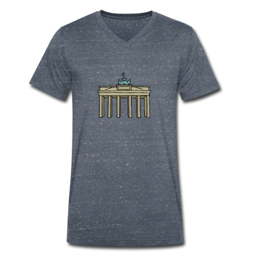 Berlin Brandenburger Tor - Männer Bio-T-Shirt mit V-Ausschnitt von Stanley & Stella