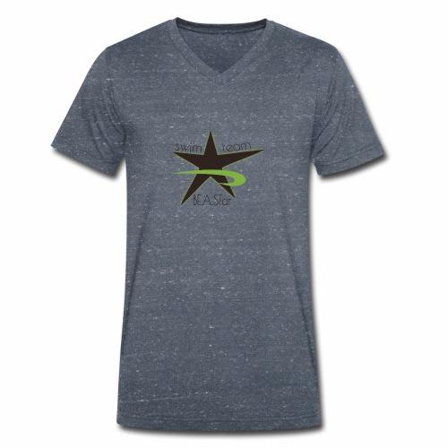 BeAStar BeAStar noStar grey green - Männer Bio-T-Shirt mit V-Ausschnitt von Stanley & Stella