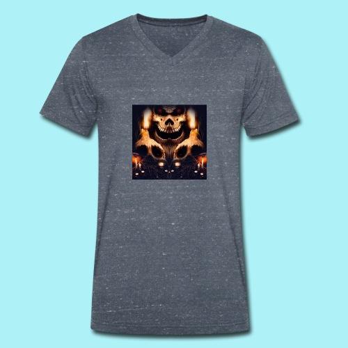 Tête de mort à la chandelle - T-shirt bio col V Stanley & Stella Homme