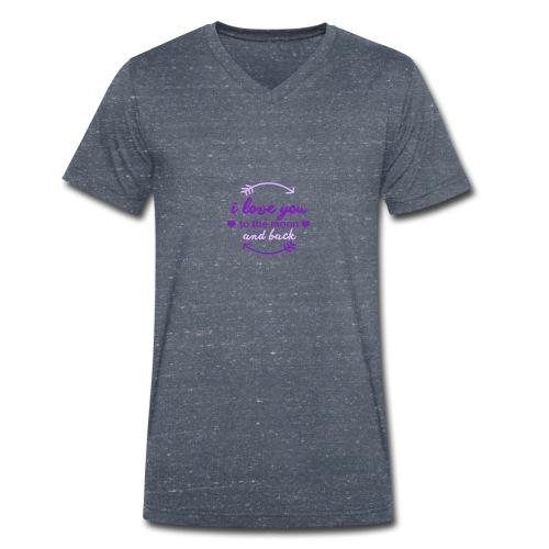 i lo ve you to the moon and back - Camiseta ecológica hombre con cuello de pico de Stanley & Stella