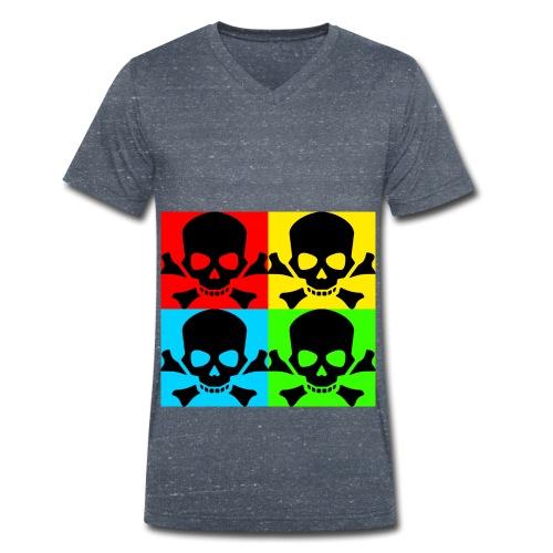 Art Skull - Men's Organic V-Neck T-Shirt by Stanley & Stella